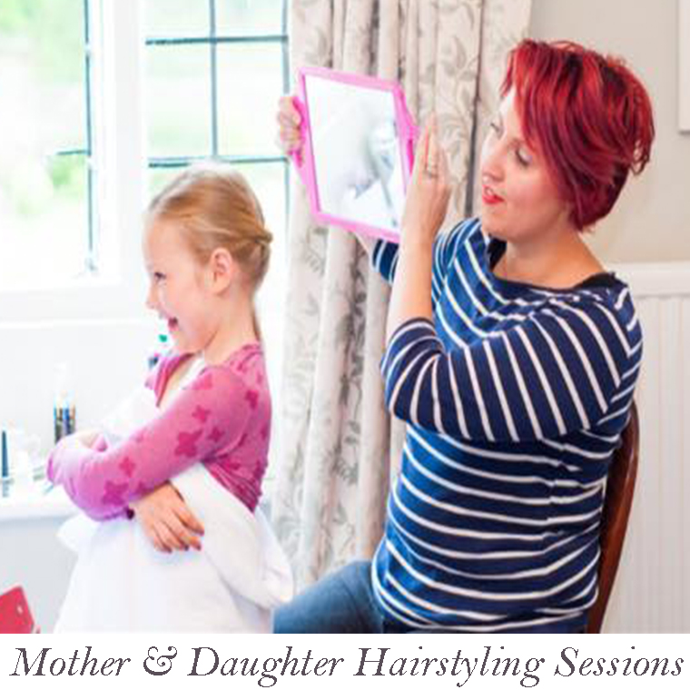 daughter hair styling